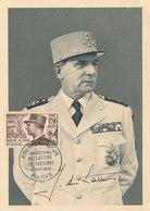 D38783 CARTE MAXIMUM CARD 1987 FRANCE - MARECHAL LECLERC WW II CP ORIGINAL - WO2