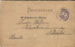 Ungarn, Drucksache N.Bielefeld, Klappkarte Angebote Wein, Geflügel, Victualien - Postal Stationery