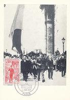 D38784 CARTE MAXIMUM CARD 1971 FRANCE - GENERAL LE GAULLE CP ORIGINAL - WO2