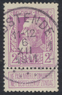 "Grosse Barbe - N°80 Obl Simple Cercle ""Oostende 1"" (T4 R) - 1905 Thick Beard"