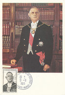 D38786 CARTE MAXIMUM CARD 1971 FRANCE - GENERAL LE GAULLE CP ORIGINAL - WO2
