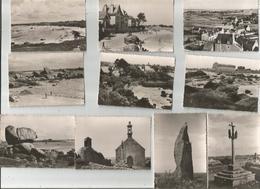 BRIGNOGAN 10 Petites Photos De 8.5x 7 De Juillet 1952 - Brignogan-Plage