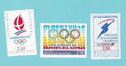 1990,1991,1992, YT No. 2632,2732.2760, MNH - France