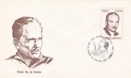 JODE MARIA ARGUEDAS. PERU 1987 FDC SOBRE PRIMER DIA DE EMISION  -LILHU - Escritores