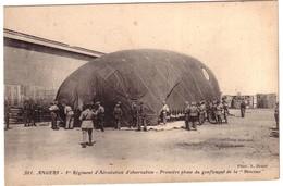 ANGERS - 1er  Régiment  D'Aérostation D'Observation - Gonflement De La Saucisse. - Angers