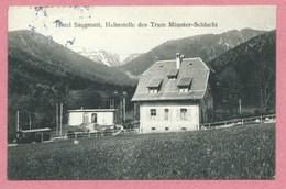 68 - Vogesen - MUNSTER - SCHLUCHT - Tramway électrique - Bergbahn - Zahnradbahn - Schluchtbahn - Haltestelle Saegmatt - France