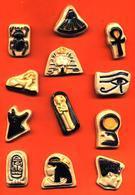 Série Complete De 12 Feves Faience Les Rois Pharaons - Egypte - Dautrey 1992 - Geschichte