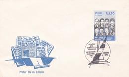 FONDO DEL PERIODISTA PERUANO, MARTIRES DE UCHURACCAY. PERU 1986 FDC SOBRE PRIMER DIA DE EMISION  -LILHU - Profesiones