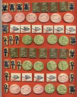 Lot De 60 Anciennes Feves Faience - 6 Modeles Differents Et 10 Feves De Chaque - Anciennes