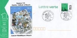 BEDECINE 2019 ILLZACH Ph. LUGUY : PAP Entier Cachet FDC Affiche Label Alsacienne Astérix Tintin Percevan Hendrix - Comics