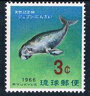 Ryukyu 142 MNH Dugong 1965 (R0592) - Ryukyu Islands