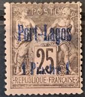 PORT LAGOS 1893 - MLH - YT 4 - 1P/25c - Puerto Lagos (1893-1931)