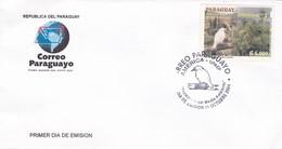 PROTECCION AL MEDIO AMBIENTE, PAJARO CAMPANA. PARAGUAY 2004 FDC SOBRE PRIMER DIA DE EMISION  -LILHU - Environment & Climate Protection