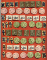 Lot De 240 Anciennes Feves Faience - 6 Modeles Differents Et 40 Feves De Chaque - Anciennes