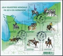 France - Jeux équestres Mondiaux En Normandie / Le Feuillet YT F4890 Obl. Cachet Rond Manuel - Oblitérés