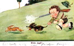 "Jagd, Junge Als Jäger, Dackel, Hase, ""Wilde Jagd"", 1941 - Sonstige"