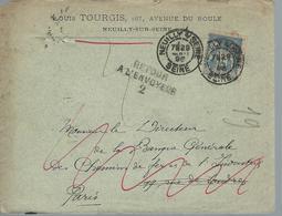 Lettre  Pour PARIS Retour à Lenvoyeur - Inconu - 1876-1878 Sage (Type I)