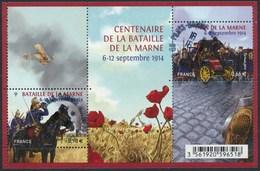 France - Centenaire De La Bataille De La Marne / Le Feuillet YT F4899 Obl. Cachet Rond Manuel - Oblitérés