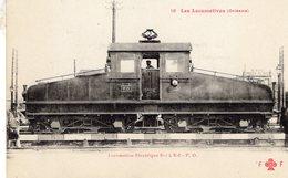 Les Locomotives Francaises (Orléans)  -  Electrique E-5   -   CPA  Fleury  Serie #18 (rouge) - Trains
