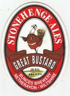 STONEHENGE ALES (NETHERAVON, ENGLAND) - GREAT BUSTARD - PUMP CLIP FRONT - Schilder