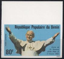 Benin, 1982 (#243b), John Paul II, Johannes Paul II, Giovanni Paolo II, Jean-Paul II, Juan Pablo II, João Paulo II - 1v - Papi