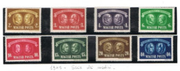 UNGHERIA (HUNGARY)  -  SG  851.858   -  1945  NATIONAL RELIEF FUND (COMPLET SET OF 8) -  MINT** - RIF. CP - Nuovi