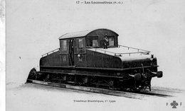 Les Locomotives Francaises (P-O)  -  Tracteur Electrique 1er Type   -   CPA  Fleury  Serie #17 (rouge) - Trains