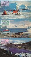 D38797 - 6 CARTES MAXIMUM CARDS 1980 BAT - ANTARCTIC GEOPHYS. OBSERV. FARADAY BASE ARGENTINE ISLANDS SOUTH POLE - Eilanden