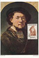 D38798 CARTE MAXIMUM CARD FD 1957 FRANCE - SELF PORTRAIT REMBRANDT CP ORIGINAL - Rembrandt