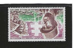 Timbre Saint Pierre Et Miquelon P.A. N° 53 Valeur 40 € - Ongebruikt