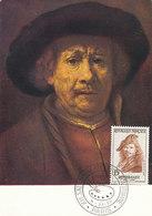 D38799 CARTE MAXIMUM CARD 1957 FRANCE - SELF PORTRAIT REMBRANDT CP ORIGINAL - Rembrandt