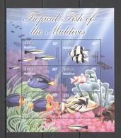 U859 MALDIVES TROPICAL FISH OF THE MALDIVES MARINE LIFE FAUNA 1KB MNH - Maritiem Leven