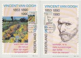 D38800 - 2 CARTES MAXIMUM CARDS FD 1990 NETHERLANDS - STAMP REPRODUCTION CARD - PAINTINGS VAN GOGH CP ORIGINAL - Impressionisme
