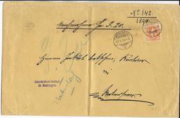 1894 - SUISSE - ENVELOPPE GF De MEIRINGEN Avec ANNOTATION MANU COMPLEMENTAIRE 3,2 F => INTERLAKEN - Briefe U. Dokumente