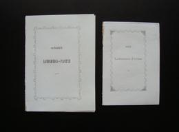Zanella Giuseppe Giacomo Due Sonetti Nozze Lampartico Piovene Vicenza - Vecchi Documenti