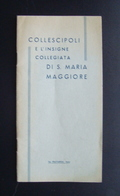 Collescipoli Santa Maria Maggiore Terni 1936 Frattaroli - Old Paper