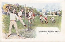 München - Allg. Deutsche Sportausstellung 1899 - Div. Sportarten - Litho     (A-163-190911) - Esposizioni