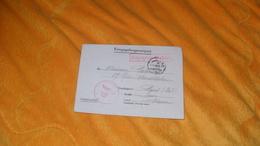 LETTRE EN FRANCAIS 1940 ?..PRISONNIER KRIEGSGEFANGENENPOST CACHETS GEPRUFT 31 STALAG VI D..MARQUE BEJETZTES GEBIET.. - Briefmarken