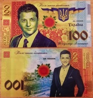Ukraine - 100 Hryven 2019 UNC President V. Zelensky Polymer Souvenir Lemberg-Zp - Ucrania