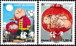 Timbres-poste Gommés Neufs** - Nouvel An Chinois Année Du Cochon - Montagne + Lanterne (petits Timbres) - France 2019 - France