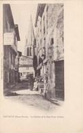 Deux-Sèvres - Airvault - Le Clocher Et La Rue Poste Caillon - Airvault