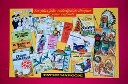 Buvard DISQUES Pour ENFANTS, PATHÉ MARCONI, Tintin, Bourvil, Tino Rossi...... - Blotters