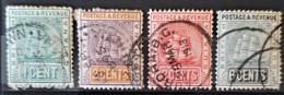 BRITISH GUIANA 1889-1903 - Canceled - Sc# 131, 132, 133, 138 - Guyana Britannica (...-1966)