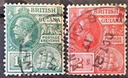 BRITISH GUIANA 1913-1917 - Canceled - Sc# 178, 179 - Guyana Britannica (...-1966)