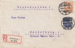 Deutsches Reich / 1916 / Reco-Brief Germania-MiF Ex Heidelberg (5538) - Germany