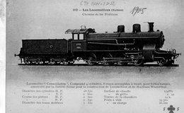 Les Locomotives (Suisse)  -  Chemin De Fer Fédéraux -   CPA  Fleury  Serie #110 (rouge) - Trains