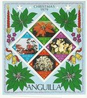 Anguilla 370a Christmas Flowers Flora 1978 MNH Souvenir Sheet Block A04s - Anguilla (1968-...)