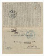Hungary Postal Stationery Delivery Receipt 1907 Szolnok B200115 - Entiers Postaux