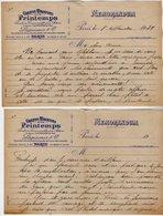 VP16.753  - Guerre 39 / 45 - Premier Jour De La Guerre - Lettre D'un Empoyé Des Grands Magasins Du Printemps à PARIS - Manuscrits