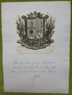 Ex-libris Héraldique - ESPAGNE - JUAN ANTONIO MONET - 1833 - Ex-libris